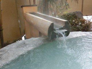 露天 岩の湯 お湯の噴き出し口