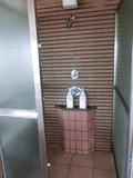 展望大浴場 シャワーブースの中