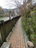 箒川沿いの遊歩道