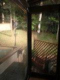 露天風呂から見える庭
