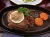 秋の夕食ステーキ付コースの米沢牛のステーキ