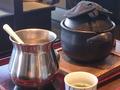 お食事処「万葉庵」の「松花堂弁当」の土鍋炊きご飯