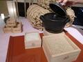 6階お食事処「万葉庵」で使用のお米の展示