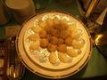 中華胡麻団子とミルク餅