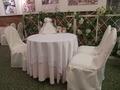 実際の披露宴のテーブルセットの展示