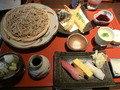 秋の新メニューのそば寿司セット