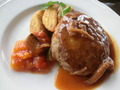 人気のランチメニュー「ハンバーグステーキ」のアップ画像