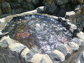 楽養の滝のそばの温泉