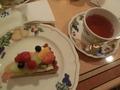B1F カフェフローラの「フレッシュフルーツタルト」&紅茶