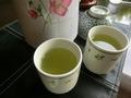レストランの日本茶