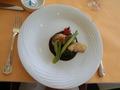 ランチコースAのメイン料理(魚)