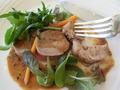 豚フィレ肉のロースト黒胡椒ソースのアップ画像