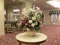 1階カフェレストラン「エルベット」前の花