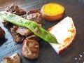 ウェルダンに焼いた三浦葉山牛のステーキ