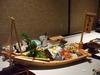夕食の舟盛り