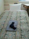 固めのベッドです