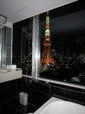 バスタブから東京タワービュー