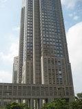 ホテルの目の前の東京都庁