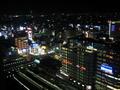 部屋から見た新宿駅方面の夜景
