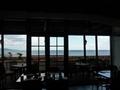 レストランから海が見えました