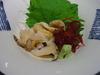浦河イン「夕食」の貝の刺身