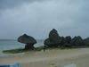 ニライビーチには岩場もありました