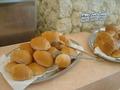 山盛りパンに大満足