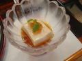 先付の胡麻豆腐