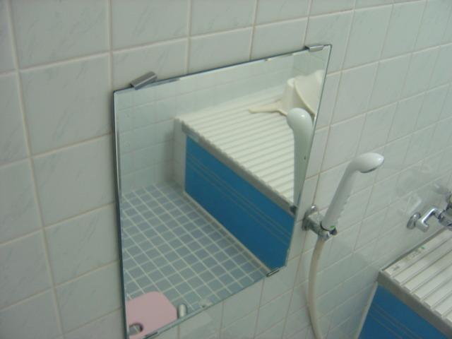 洗い場のミラー