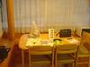 貸別荘リビングのテーブル