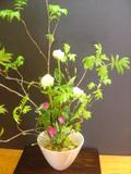 ロビーの美しい生花