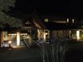 ライトアップされたホテルの外観 その2
