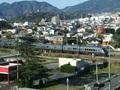 ホテルから九州の特急が見えます。
