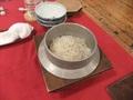 夕食 道産米をつかったご飯