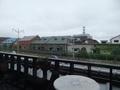 朝食は運河を眺めながら。