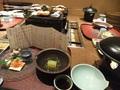 夕食は食事処で・・・。