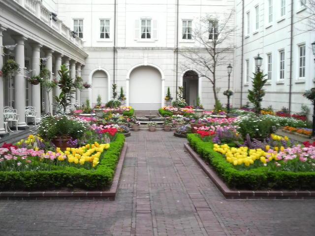 ホテルアムステルダム 中庭