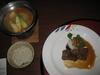 夕食(ふかひれと黒毛和牛)