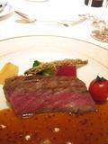 国産牛背肉の網焼きフランべ
