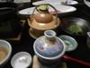 「アン肝とカキの茶碗蒸し」と「土瓶蒸し」のツーショット!