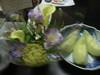 結婚記念日のお祝いに、お花とメロンのサービス!