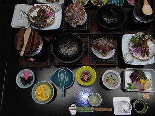 新鮮な海の幸がいっぱい 夕食