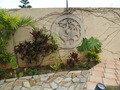 ガーデンプールの壁