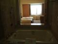 バスルームから見た部屋