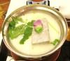 朝食(和食)の豆乳鍋です。