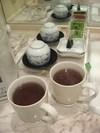 お茶コーナーでお茶をいただきました♪