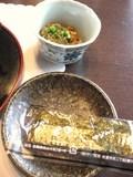 朝食・海苔と納豆