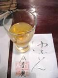 夕食(食前酒のあんず酒)