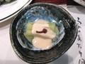 夕食(ハス芋の胡麻クリーム掛け)