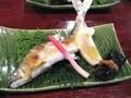 夕食(鮎の塩焼き)
